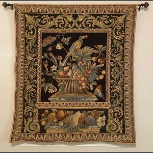 Floral/Botanical/Wildlife/Bird hand woven tapestry